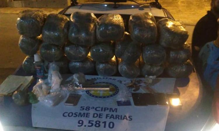 Entorpecentes estavam em um carro de passeio - Foto: Divulgação | SSP-BA