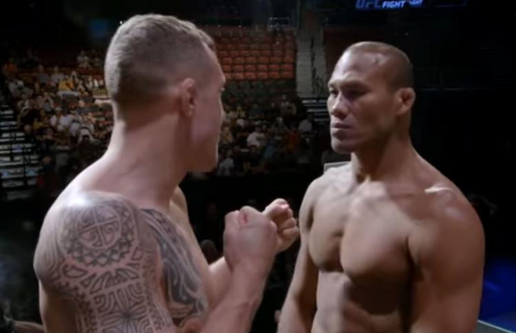 O brasileiro (dir.) prometeu esmagar o sueco Hermansson pela torcida brasileira - Foto: Reprodução l YouTube l UFC