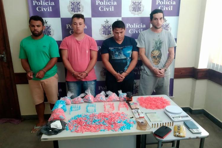 Suspeitos foram presos em flagrante com material - Foto: Divulgação | SSP-BA