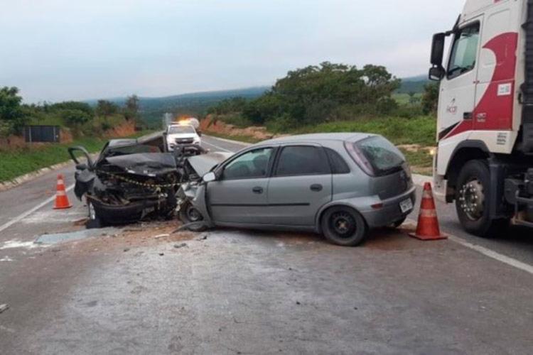 Acidente ocorreu nas proximidades do Km 628, trecho do município de Jaguaquara - Foto: Reprodução   Blog do Anderson