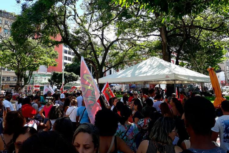 Categoria manifesta contra reforma da Previdência - Foto: Luan Borges | Ag. A TARDE