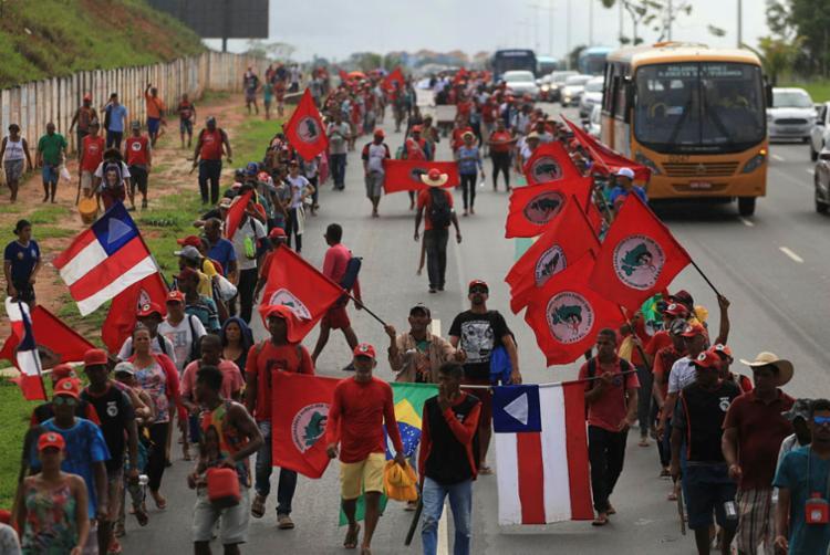 Marcha do MST foi iniciada na quarta-feira, 10 - Foto: Joá Souza | Ag. A TARDE