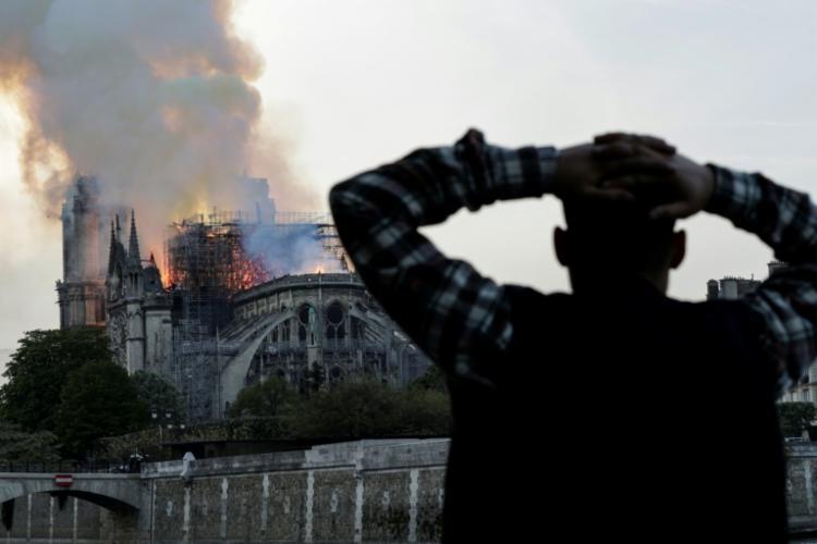 Incêndio destruiu Catedral de Notre Dame nesta segunda-feira, 15 - Foto: Geoffroy Van Der Hasselt | AFP