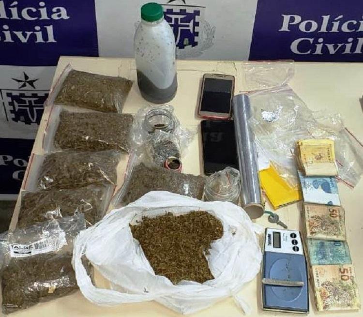 Material apreendido foi encaminhado para o Departamento de Polícia Técnica (DPT), no Garci - Foto: Divulgação | Polícia Civil