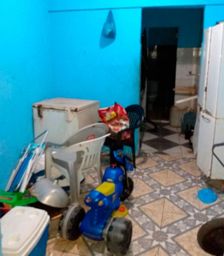 Residência que as vítimas foram feitas reféns