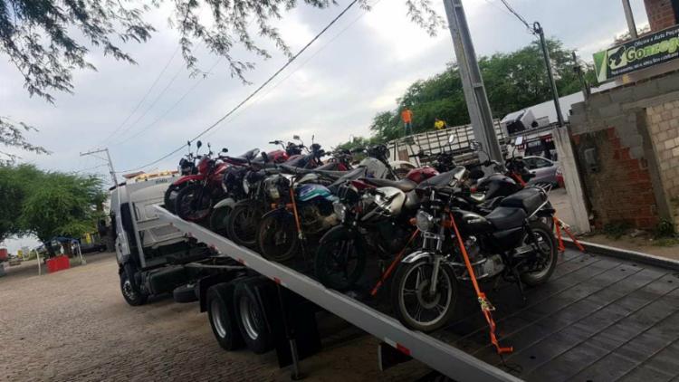 Entre os dias 9 e 11 de abril, foram 54 veículos apreendidos - Foto: Divulgação | PRF-BA
