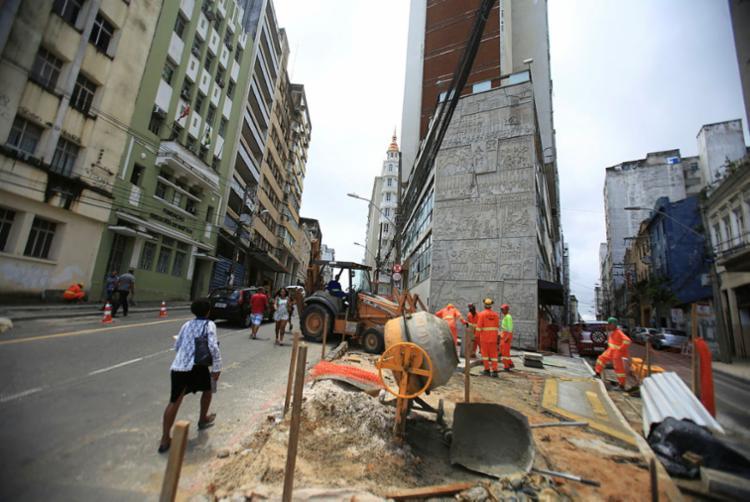 Obras fazem parte do projeto 'Pelas Ruas do Centro Antigo de Salvador' - Foto: Joá Souza | Ag. A TARDE