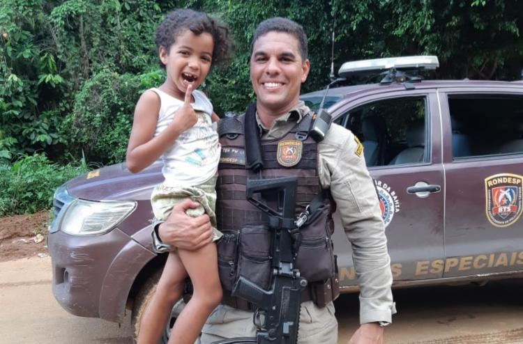 Lorraine, 5 anos, pediu ajuda do tenente - Foto: Divulgação | SSP-BA