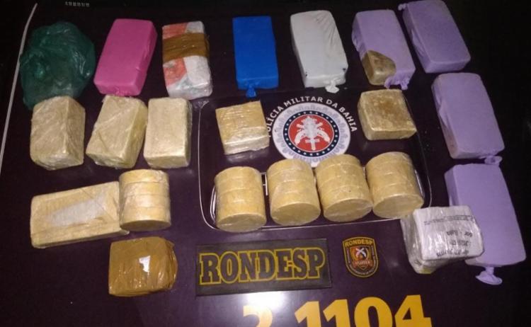 Tabletes possuíam aproximadamente 21 kg - Foto: Divulgação | SSP-BA