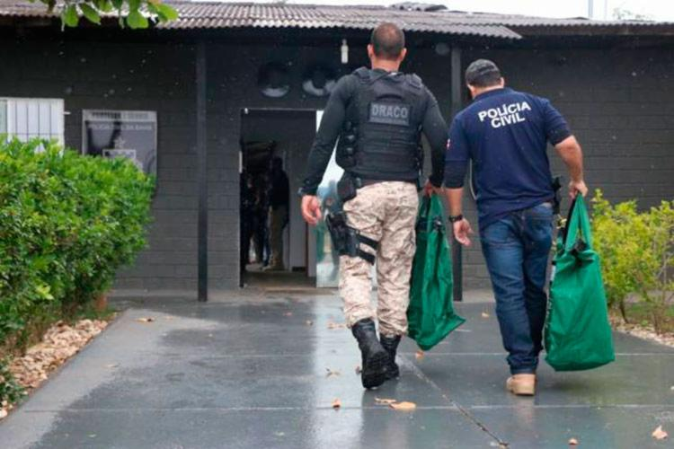 Operação foi realizada pelo Departamento de Repressão e Combate ao Crime Organizado (Draco) - Foto: Alberto Maraux | Divulgação SSP