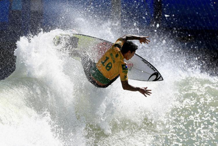 Gabriel Medina ficou à frente dos australianos Ryan Callinan e Harrsion Mann - Foto: Sean M. Haffey | Getty Images | AFP