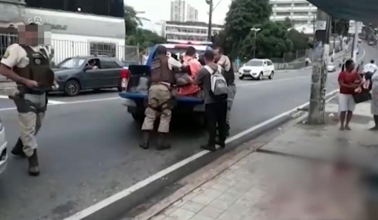 O crime aconteceu na manhã da terça, 23, na rua Padre Feijó - Foto: Reprodução l TV Bahia