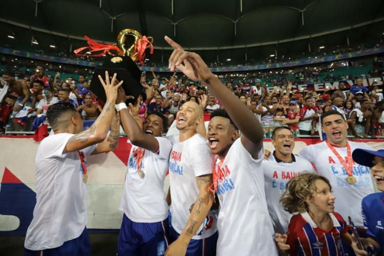 O Estadual acabou por se tornar a salvação do clube após duas eliminações - Foto: Adilton Venegeroles l Ag. A TARDE