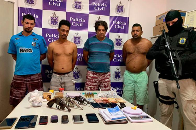 Grupo foi autuado por tráfico de drogas - Foto: Divulgação | SSP