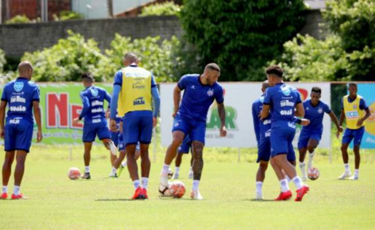 Equipe treinou jogadas de bola parada, cobranças de falta e pênaltis - Foto: Divulgação | EC Bahia