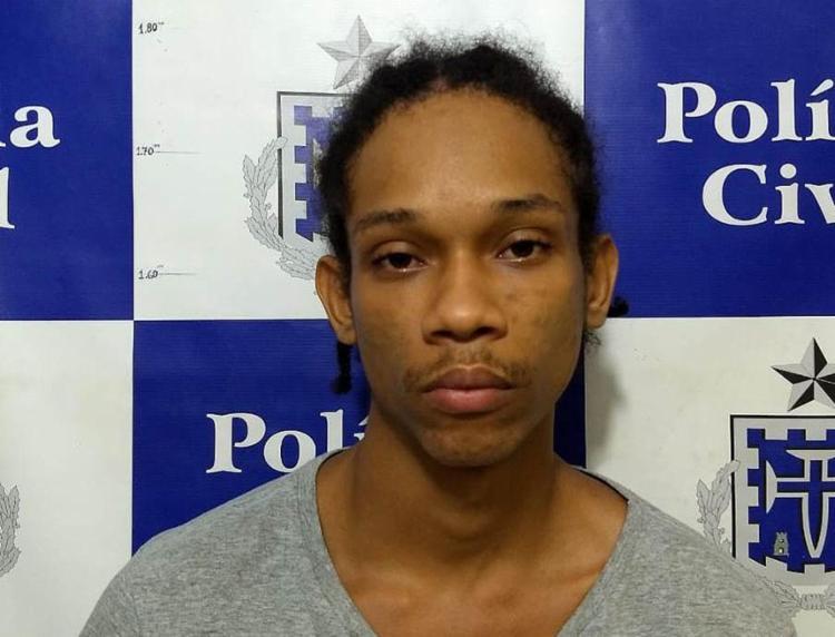 Wellington dos Santos foi capturado por equipes da 2ª DT/Liberdade, na localidade conhecida como Amarelinha - Foto: Divulgação l Polícia Civil