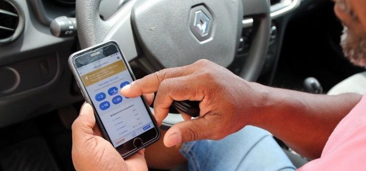 Condutores têm como opção de pagamento adquirir as cartelas físicas no local - Foto: Bruno Concha   SECOM   PMS
