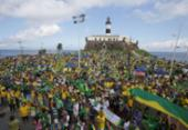 Veja imagens do ato pró-Bolsonaro na Barra | Foto: