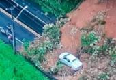 Deslizamento de terra deixa via bloqueada na BA-526 | Foto: Reprodução | TV Record Bahia