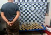 Jovem é preso com 30 Kg de drogas dentro de ônibus na BR-116 | Foto: Divulgação | PRF