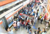 Linha 1 do metrô de Salvador opera com lentidão por conta de vandalismo | Foto: Luciano da Matta | Ag. A TARDE