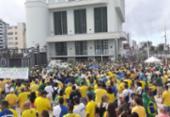Ato em apoio ao governo Bolsonaro reúne manifestantes no Farol da Barra | Foto: Cidadão Repórter