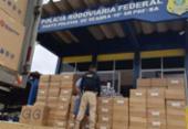 Carga com cigarros contrabandeados é apreendida em Seabra | Foto: Divulgação | PRF