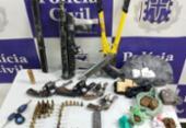 Três suspeitos flagrados com armas são mortos em Senhor do Bonfim | Foto: Divulgação | SSP