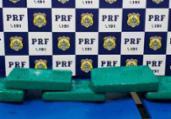 Passageiro é preso com drogas dentro de bolsa na BR-116 | Divulgação | PRF