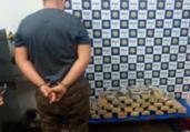 Jovem é preso com 30 Kg de drogas em ônibus na BR-116 | Divulgação | PRF