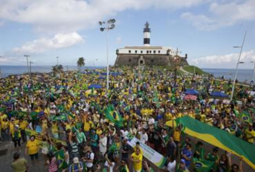 Veja imagens do ato pró-Bolsonaro na Barra |