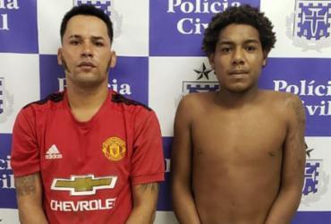 Dupla é presa suspeita de tráfico de drogas em Itaparica | Divulgação | Polícia Civil