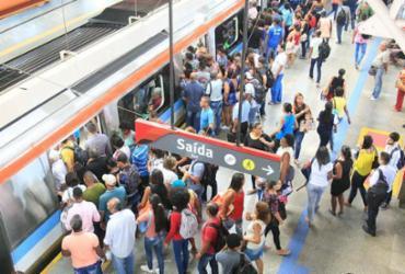 Vandalismo causa lentidão na Linha 1 do Metrô de Salvador | Luciano da Matta | Ag. A TARDE
