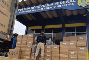 Carga com cigarros contrabandeados é apreendida em Seabra   Divulgação   PRF