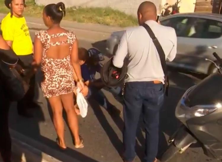 Acidente aconteceu no sentido Centro em Salvador - Foto: Reprodução | TV Bahia