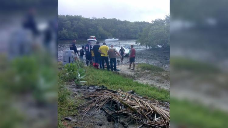 Corpo de Bombeiros de Sergipe durante tentativa de resgate - Foto: Reprodução