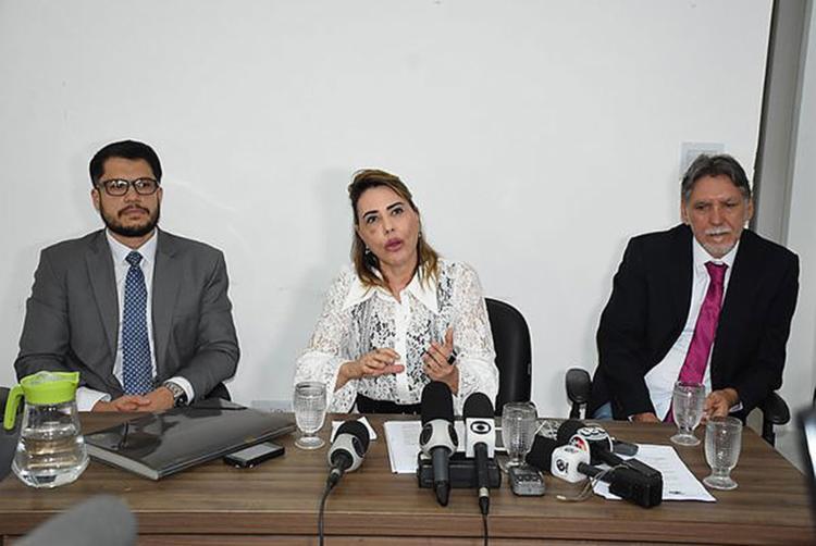Advogados do ginecologista falaram com jornalistas - Foto: Reprodução l Blog do Anderson