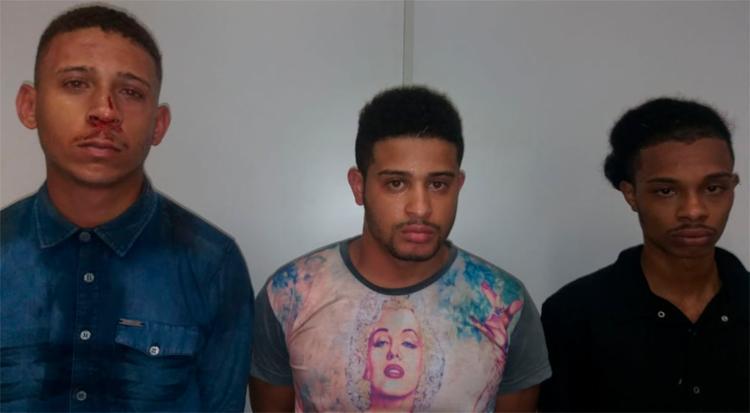 Os suspeitos foram interceptados por uma equipe da PM pouco tempo depois de cometer o crime - Foto: Divulgação   SSP-BA