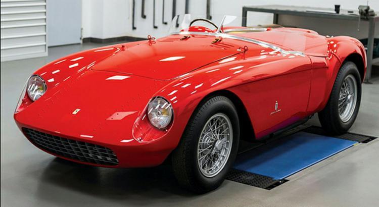 Ferrari 500 Mondial Spyder de 1954: pistas e estradas - Foto: Divulgação