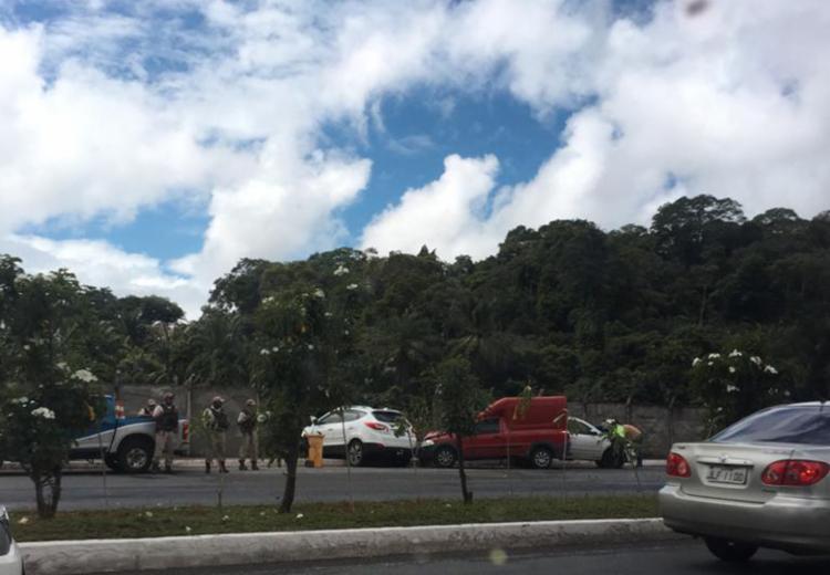Segundo a Transalvador, acidente deixou dois feridos - Foto: Reprodução | Cidadão Repórter