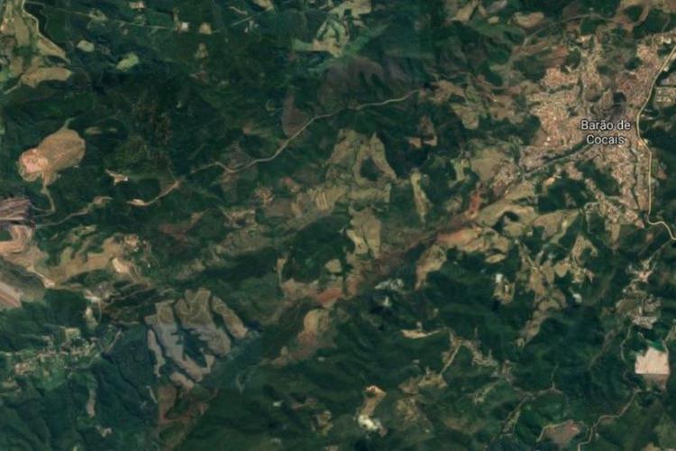 A Vale acionou as autoridades acerca da movimentação do talude no último dia 13 - Foto: Reprodução   Google Maps