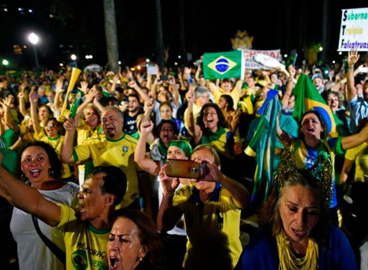 Bolsonaristas criticam MBL após recusa a participar do protesto do dia 26 - Foto: Douglas Magno | AFP