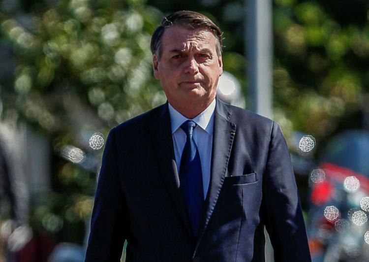Foto foi divulgada neste domingo no twitter do presidente Jair Bolsonaro - Foto: Miguel Schincariol   AFP
