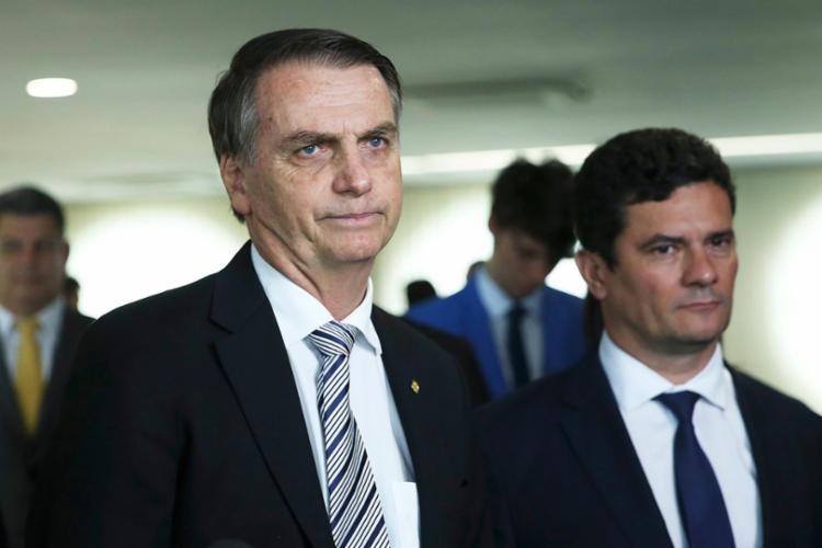 De acordo com Bolsonaro, Moro já possuía pretensões em uma possível candidatura presidencial antes mesmo de sair do governo | Foto: José Cruz | Agência Brasil - Foto: José Cruz | Agência Brasil