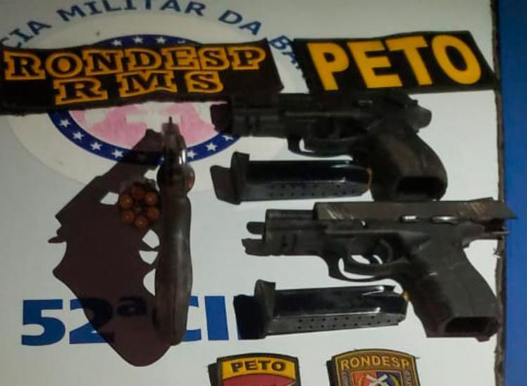 Material encontrado com suspeitos seria o mesmo utilizado na chacina - Foto: Divulgação | SSP-BA