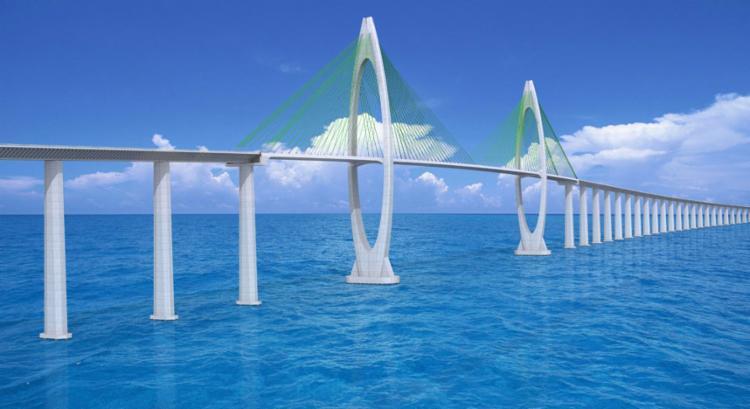 Ponte Salvador-Itaparica vai se tornr lucrativa com pedágio em sete ou oito anos - Foto: Projeção SDE | Divulgação