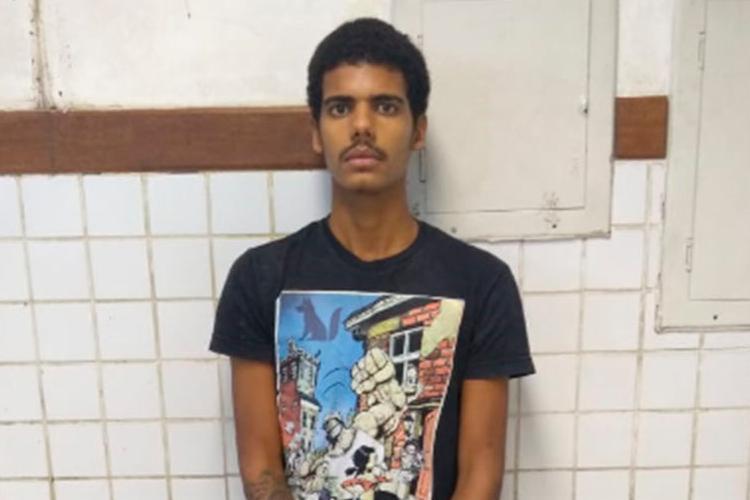 Após cometer o crime, Neílton Carvalho Bastos, de 21 anos, tentou fugir do flagrante - Foto: Divulgação | SSP-BA