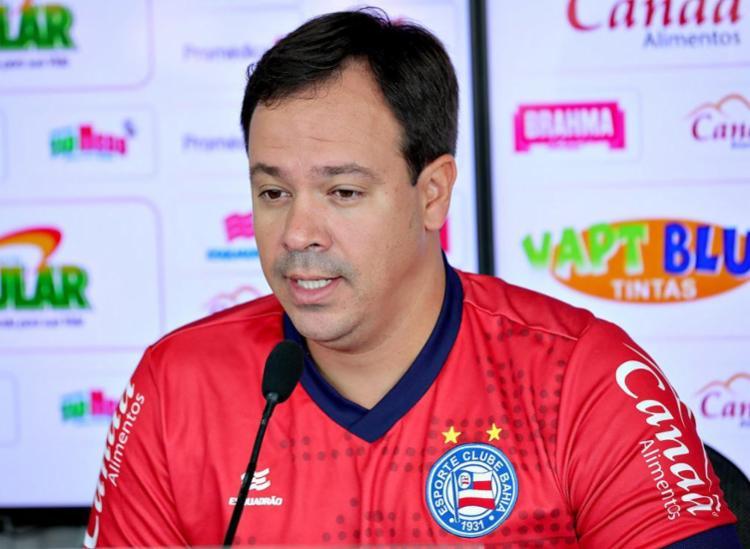A equipe comandada por Dado Cavalcanti vai enfrentar o Inter - Foto: Felipe Oliveira l EC Bahia