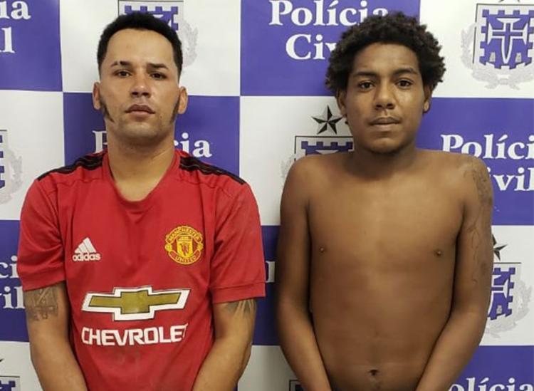 Paulo Henrique e Ronald de Jesus foram autuados em flagrante por tráfico de drogas - Foto: Divulgação | Polícia Civil