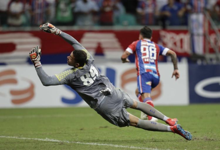 O atacante Artur marcou o único gol da partida - Foto: Adilton Venegeroles | Ag | A TARDE